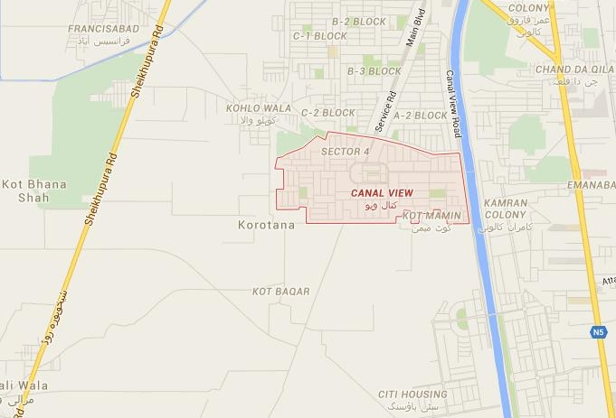 location-map-canal-view-housing-scheme-gujranwala
