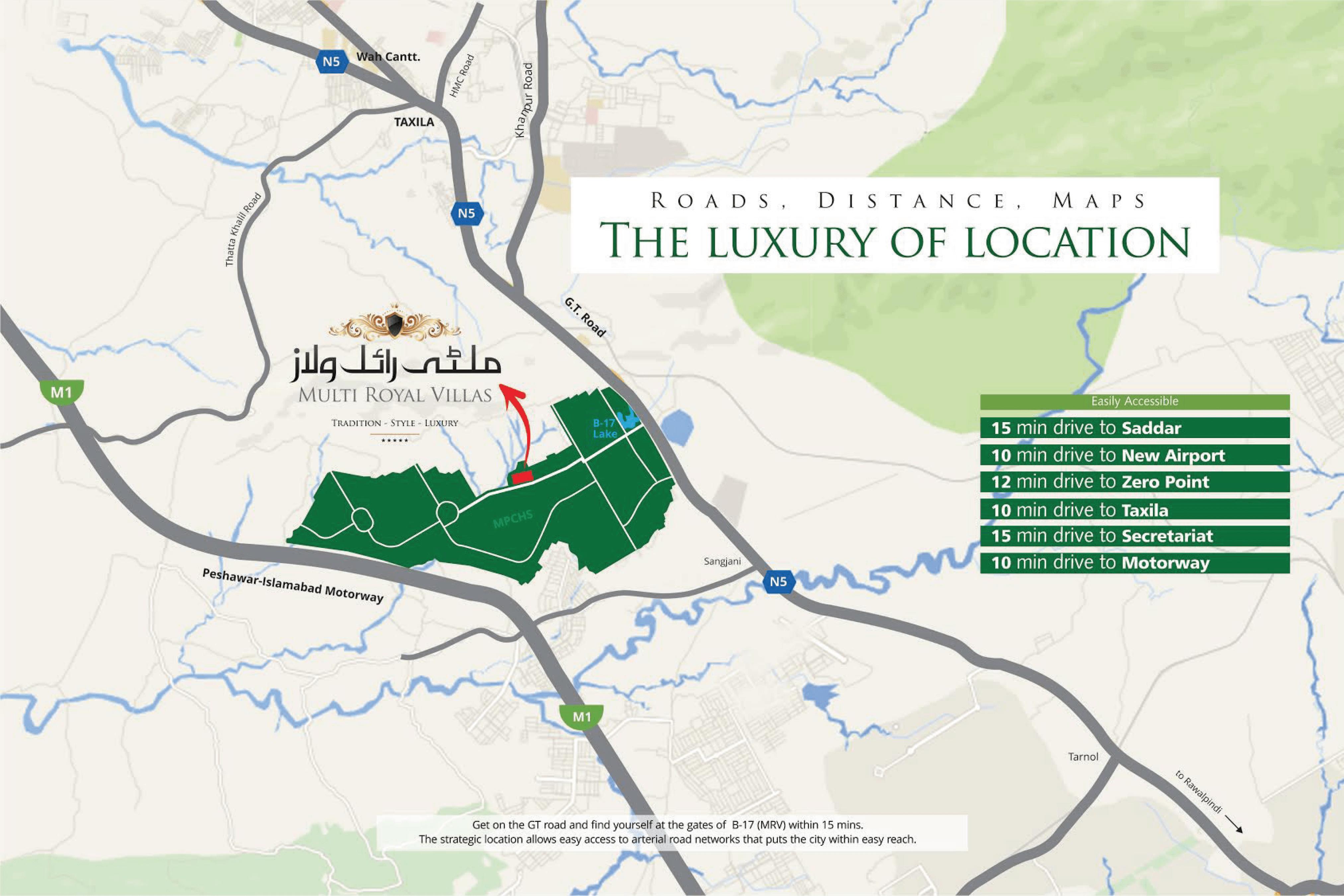 Multi Royal Villas-Project Maps
